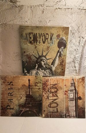 Tablouri cu orase, Londra, Paris, New York,