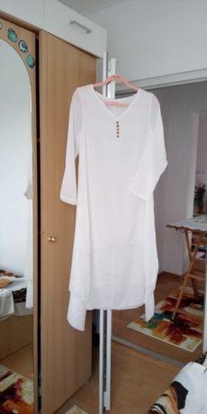Rochie de vara albă nou-nouță din pânză