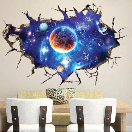 Sticker de perete 90x60cm univers galaxie diverse modele