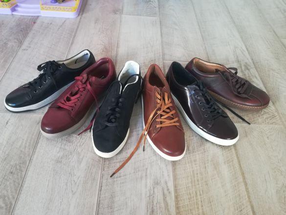 обувки естествена кожа 47 номер НОВИ Reebok, ECCO,SKECHERS