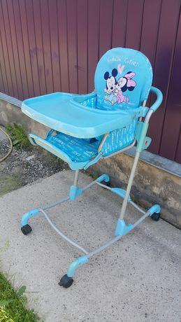 Стульчик для кормления на колесах, качалка детская можно обмен