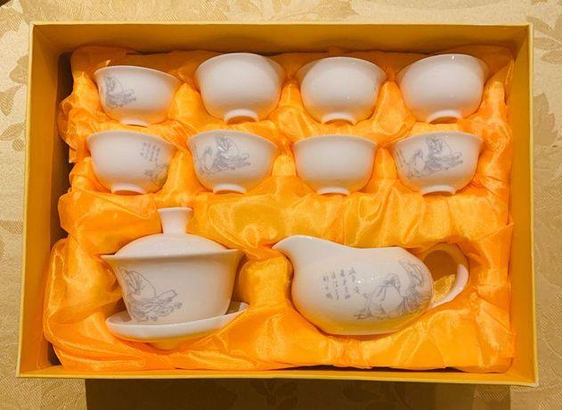 Chinese Fine Porcelain Tea Set Oriental (8 cups set) - Brand new