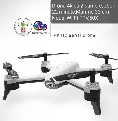 Drona cu 2 camere Full HD, zbor 22 minute,Zoom 50x,Noua, Wi-Fi FPV,50X