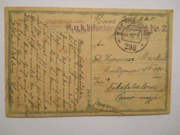 Vand carte postala din 1918,RARA,cu stampila K.u.K.!