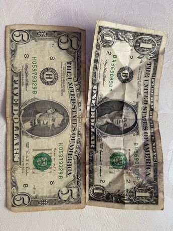 Доллары старые