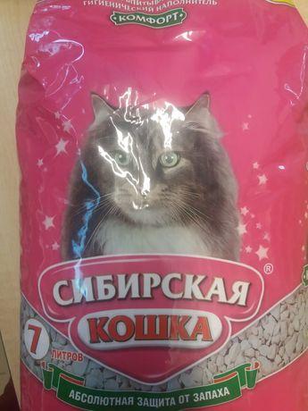 Наполнитель для кошачьего туалета Сибирская кошка, 7 л
