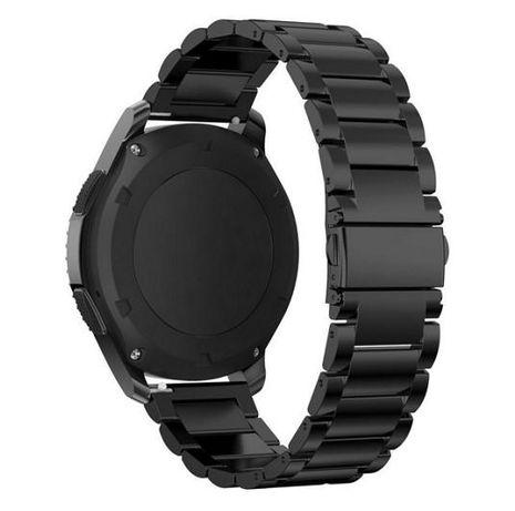 Curea neagră pentru ceas otel inoxidabil latime 22 mm