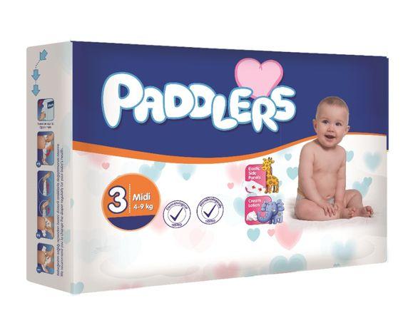 Scutece copii, Padddlers, 70buc/set, Marime 3, Midi, 4-9 Kg, 5-9 luni