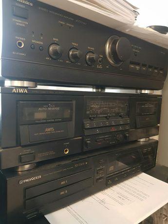 cd dublu pioneer,deck dublu aiwa,amplificator tehnics