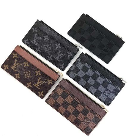 Card And Coin Holder LOUIS VUITTON, 100% естествена кожа