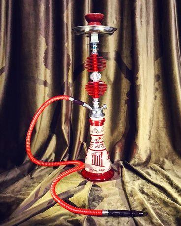 Narghilea HOOKAH EGIPT - cu un furtun, 55 cm, Rosu