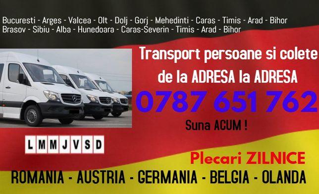 Plecari ZILNICE transport persoane la adresa Romania Germania Austria