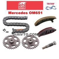 FEBI К-т ангренажна верига с колела двигател 651 Дизел Mercedes C E