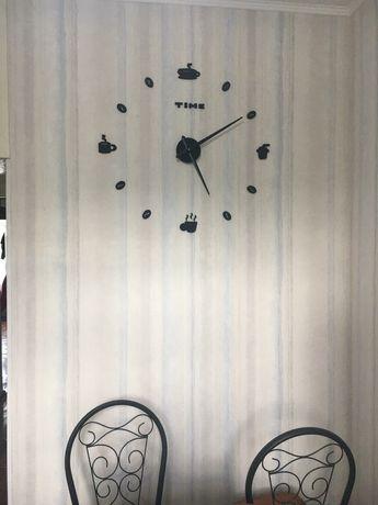 Зд часы КОФЕ размер до 120см в диаметре
