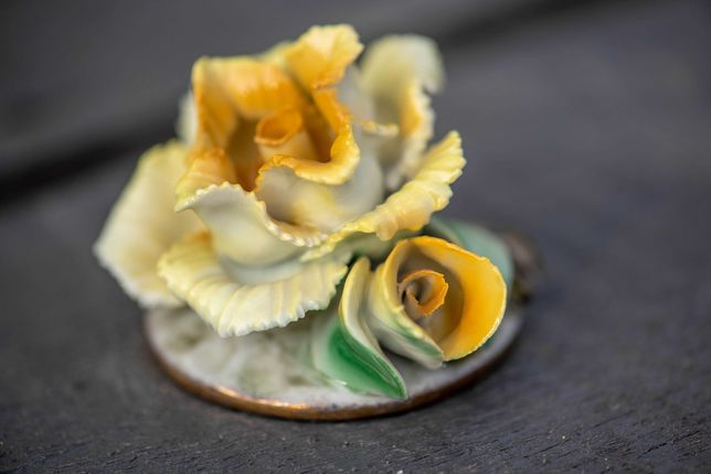 Trandafir din portelan fin - manufactura Romania - Cluj Napoca