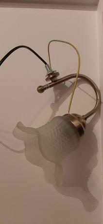 Aplica perete cu abajur de sticla