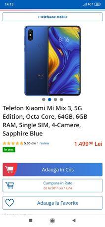 Telefon 5G mi mix 3