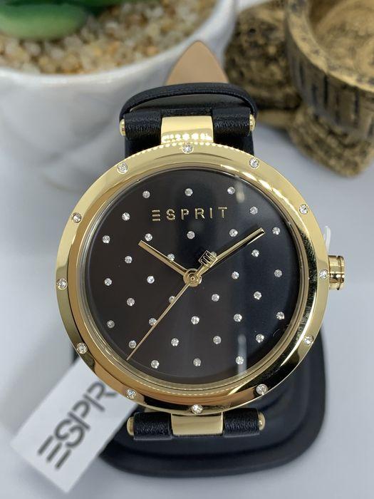 Amanet Royal CB: Ceas Esprit dama auriu curea piele cadran negru Pitesti - imagine 1