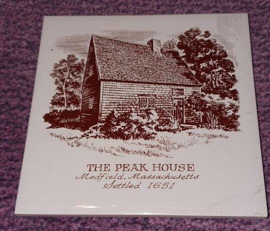 Ceramica handmade The Peak House, Medfield Mass, Settled 1651
