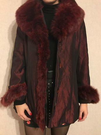 Продам женскую куртку, мех кролик,р 48.