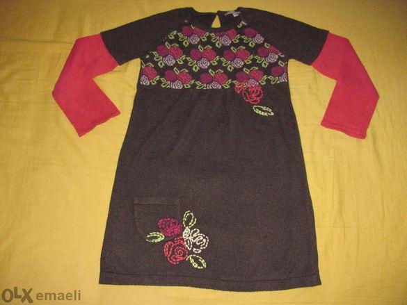 Красива плетена рокля Marks & Spencer Indigo за 3-4 г