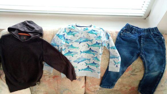 Лот дънки, блузи, ризи момче есен зима 4-5г