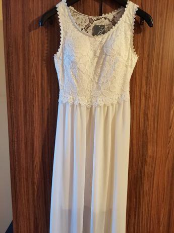 Официална дълга бяла рокля