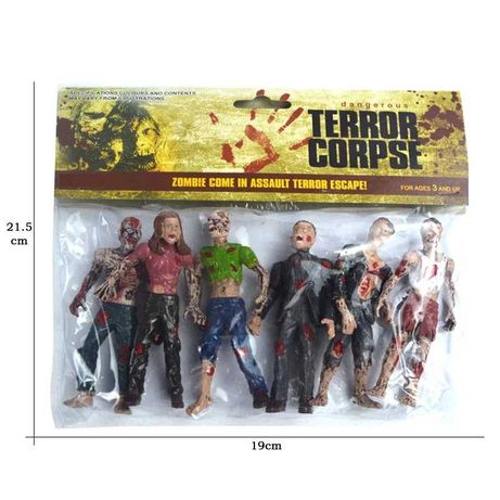 Set 6 figurine Zombi_ The Walking Dead Zombies Terror Corpse 10 cm
