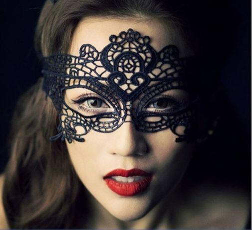 Halloween Маска - Домино, черна и бяла