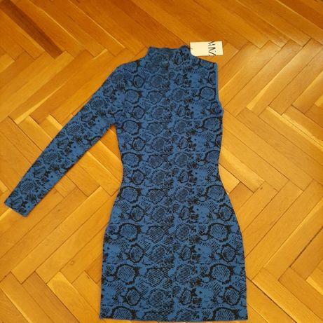 Ефектна и стилнa рокля ZARA. Асиметрична, размер M/L. НОВА!