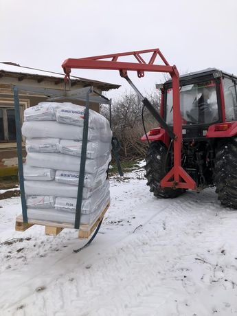 Girafa macara hidraulica in tiranti tractor big bag azot NOUA =>1 tona