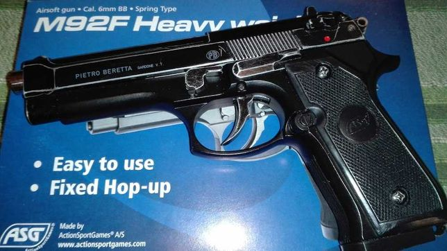 Pistol Airsoft Beretta m9 Foarte Puternic / Full Metal/ 4,4jouli