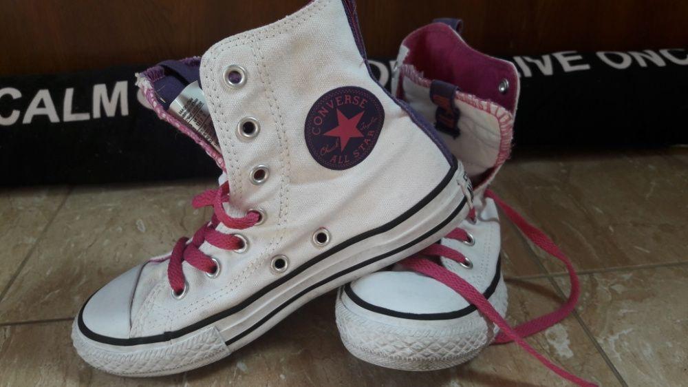 Детски бели кецове Converse 31
