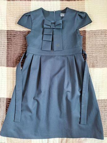 Платье школьное, рост 128, темно-синее, Скай Лэйк, в хорошем состоянии