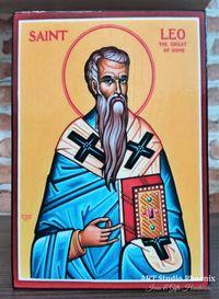 Икона на Свети Лъв Велики ikona sveti luv veliki icon saint leo
