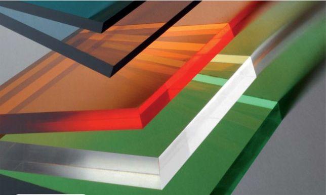 Поликарбонат монолитный прозрачный и цветной в ассортименте