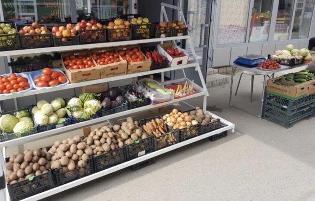 Овощной отдел при магазине. Район Орбиты
