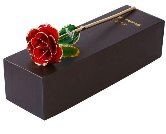 декоративна златна роза алуминии със златно покрити стъкло метална 24