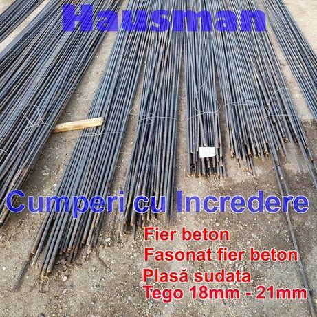 Fier beton BST500 striat - Fasonat ; Plasa sudata 6mm , 8mm ;Tego.