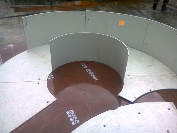 Reparatii cu table HARDOX 400-450-500 debitate*roluite*gaurite*sudate