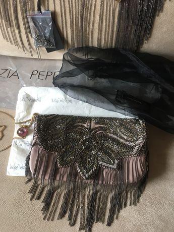Кожена чанта и шал Patrizia Pepe