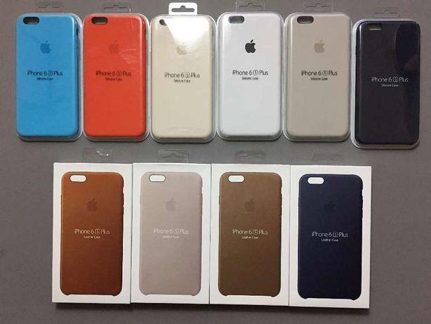 Husa silicon piele, Silicone Leather Case, iPhone 6s Plus, ORIGINALA