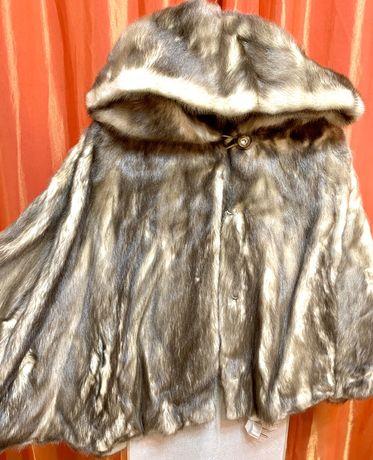Цельнокройная Норковая шуба размер 44, короткая шуба ,с капюшоном