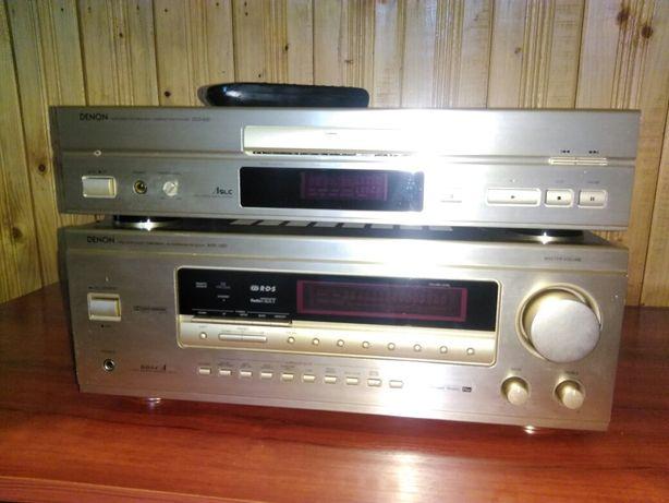 Denon avr 1400 amplituner+ cd dcd635 culoare șampanie, impecabil !!!