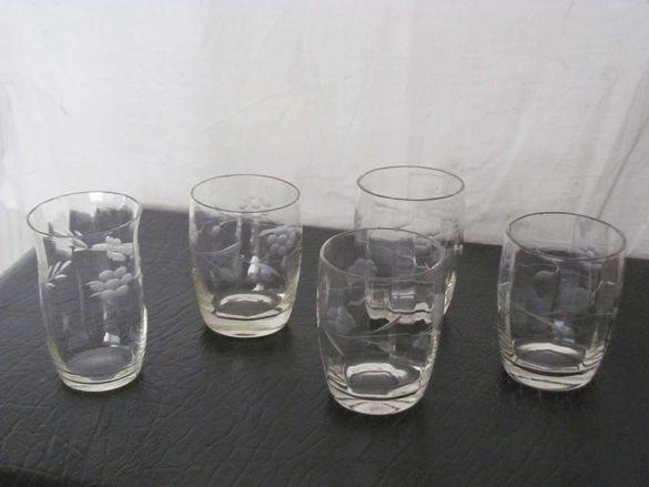 уникални ретро чаши, стъклени декоративни съдини, фруктиера