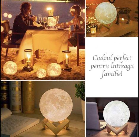 Moon Lamp 3D - 5 culori