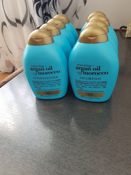 Sampon profesional ogx cu ulei de argan 385 ml.