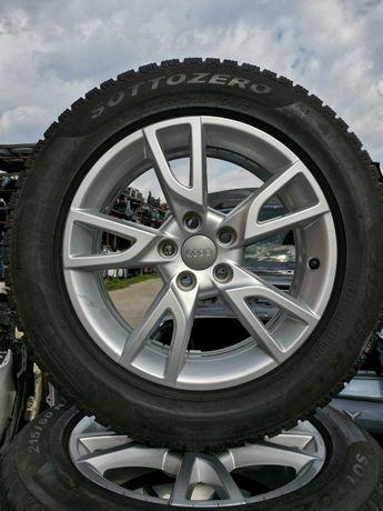 Set roti Jante cu anvelope Original Audi R17 cod 8U0071497