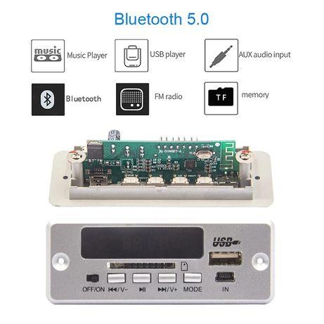 Авто аудио Player Bluetooth 5.0 мoдул за вграждане FM/MP3/TF card/USB
