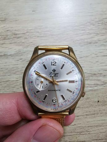 LINGS 21 Prix Watch Swiss Chronograph Antimagnetic Vintage Watch Mecha